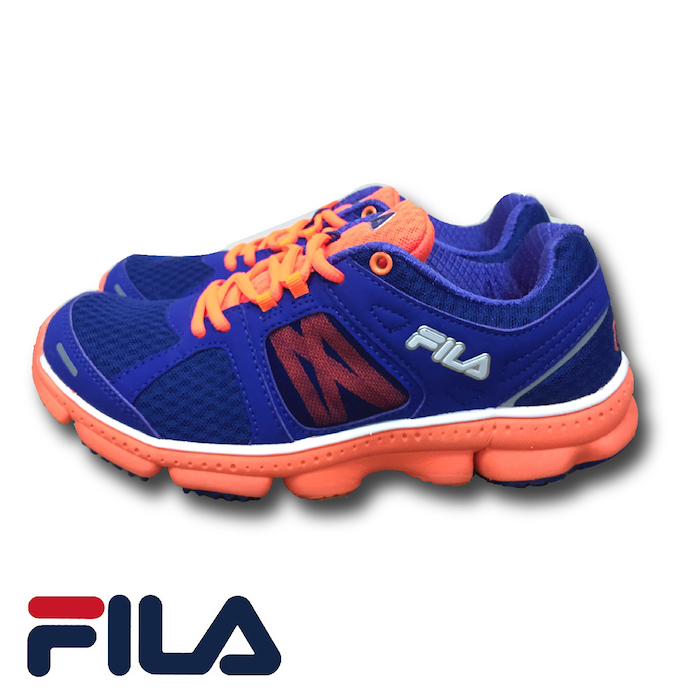 FILA - FLASH 菱格網眼布慢跑鞋 (女) 5-J303P-929 紫橘 (預購)