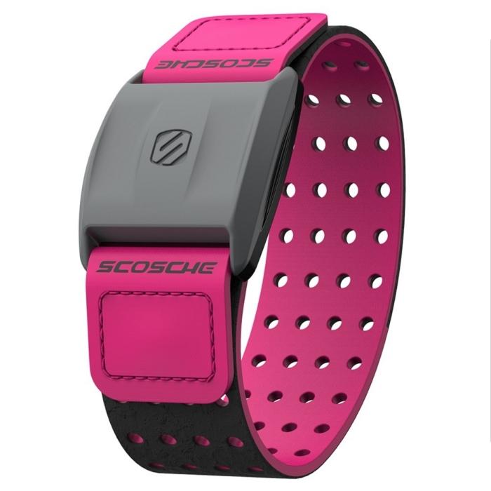 Scosche Rhythm+ 手臂式心跳帶 - 粉紅色(可搭配Garmin Polar Bryton PAPAGO等GPS手錶或iPhone,Android手機)-戶外.婦幼.食品保健-myfone購物
