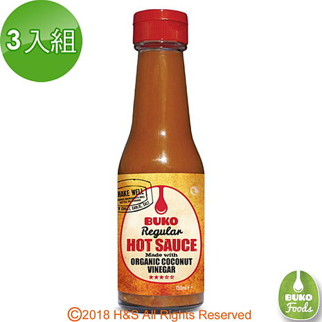 【Buko】天然椰子辣椒醬3入組