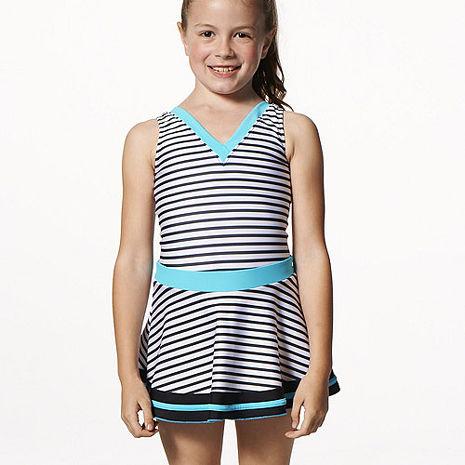 【SAIN SOU】女童連身裙泳裝附泳帽A88503