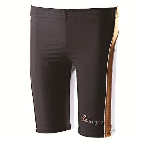 【SAIN SOU】大男TOP潑水特殊材質及膝泳褲加贈泳帽A55108