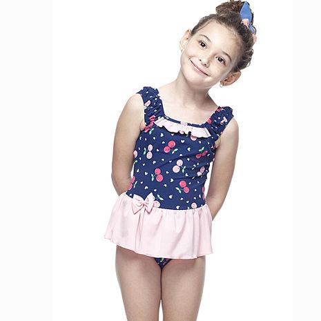 【SAIN SOU】MIT女童連身裙泳裝附泳帽A88425