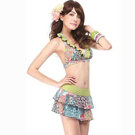 【SAIN SOU】大女比基尼三件式泳裝附泳帽A93426
