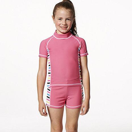 【SARBIS】MIT泡湯SPA女童二件式泳裝附泳帽B8050116-