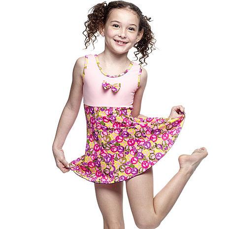 【SARBIS】MIT女童連身裙泳裝附泳帽B8840716-
