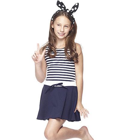 【SARBIS】MIT泡湯SPA中童連身裙泳裝附泳帽B88417S