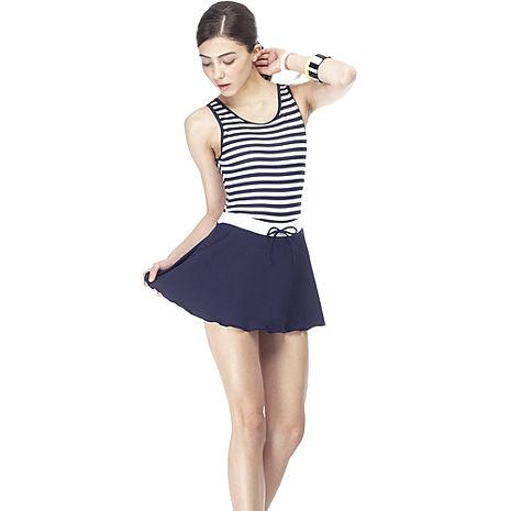 【SARBIS】MIT泡湯SPA大女連身裙泳裝附泳帽B88417XL