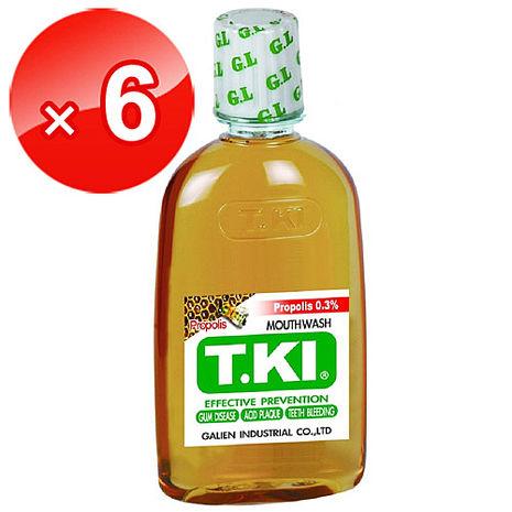 白人T.KI蜂膠漱口水350cc*6瓶
