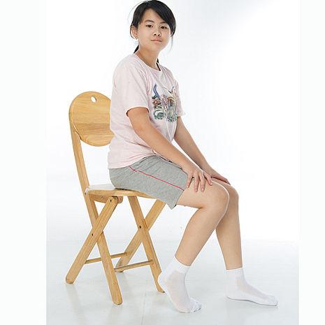 【KEROPPA】7~12歲學童專用毛巾底氣墊短襪x4雙C93003白色