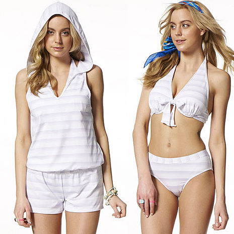 【SAIN SOU】大女比基尼三件式泳裝附泳帽A93508