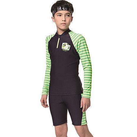 【SARBIS】中童兩截式防曬泳裝附泳帽B72805