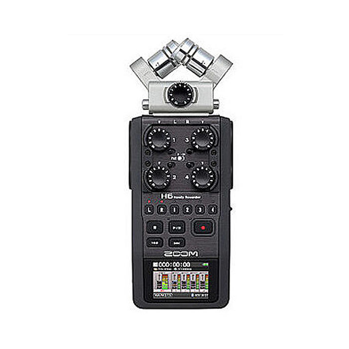ZOOM H6 BLACK 手持數位錄音機 錄音筆 混音器 收音 立體聲 音樂 電影(公司貨)