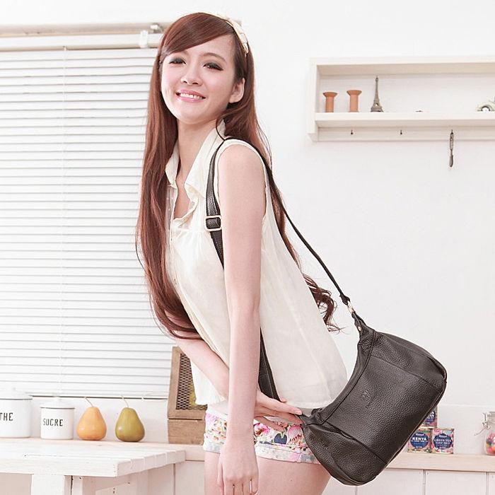 Dennibella 丹妮貝拉 - 日本薰衣草系列 - 斜背包 側背包 日系甜心半月包 - 經典黑色