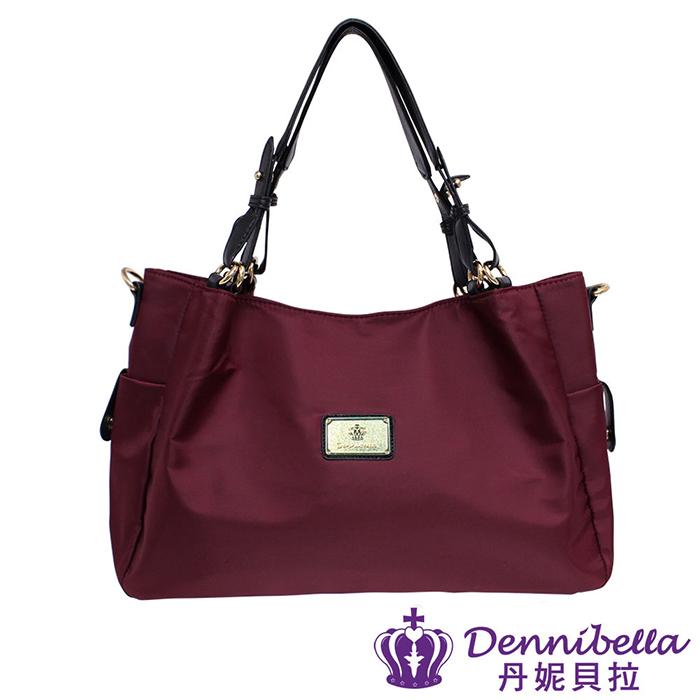 Dennibella 丹妮貝拉 - 日本薰衣草系列 - 日系輕量系列-防潑水斜背包 - 酒紅