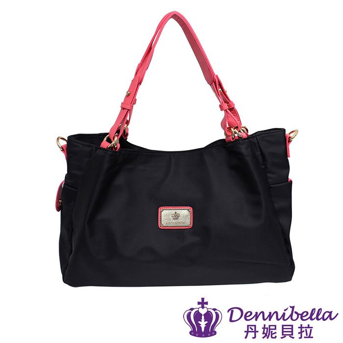 Dennibella 丹妮貝拉 - 日本薰衣草系列 - 日系輕量系列-防潑水斜背包 -黑