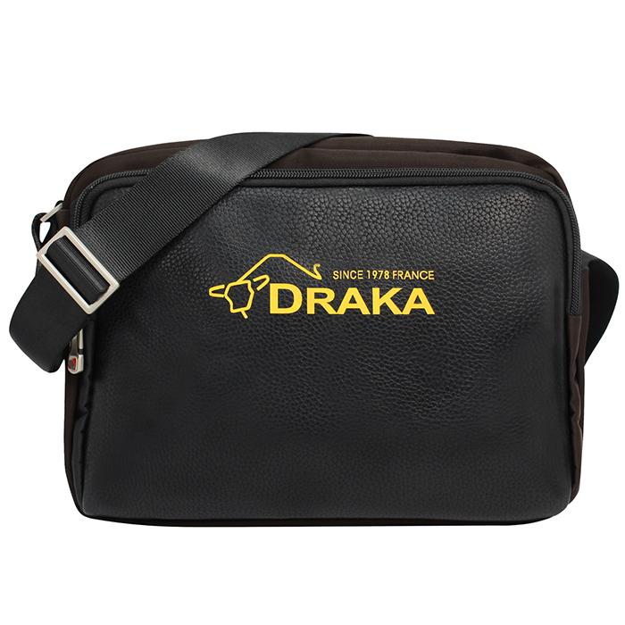 DRAKA 達卡 - 斜背包/側背包/肩背包 商務防潑水系列 都會簡約隨身包-咖