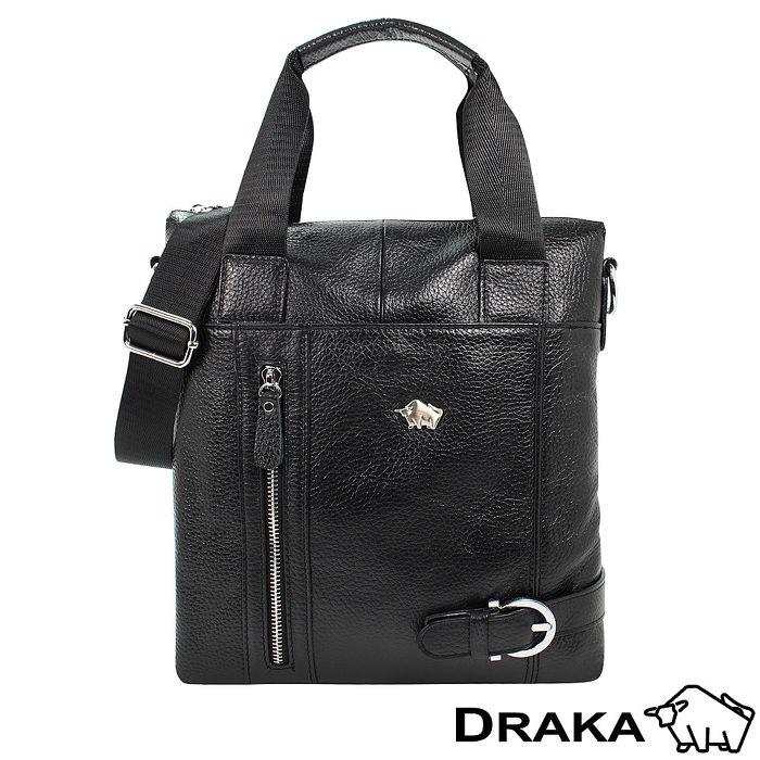 DRAKA 達卡 -紳士皮帶扣-直式牛皮手提隨身斜背包