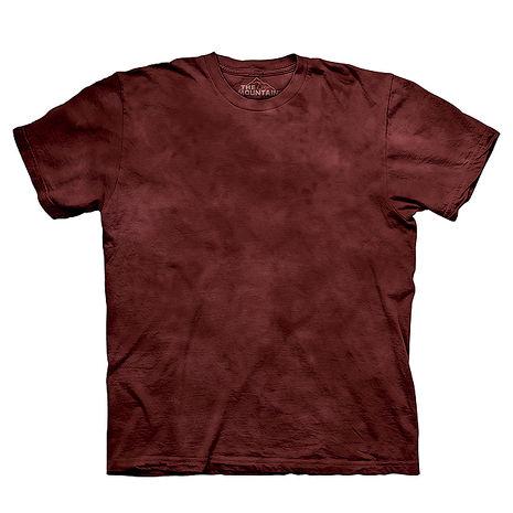 【摩達客】(預購)美國進口The Mountain純棉 暗棕紅 環保藝術波紋底紮染T恤