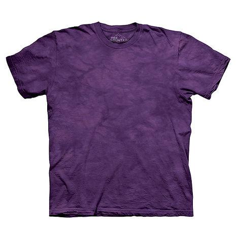 【摩達客】(預購)美國進口The Mountain純棉 丁香紫 環保藝術波紋底紮染T恤