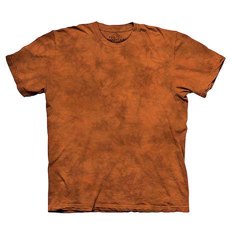 【摩達客】(預購)美國進口The Mountain純棉 深柑橘 環保藝術波紋底紮染T恤