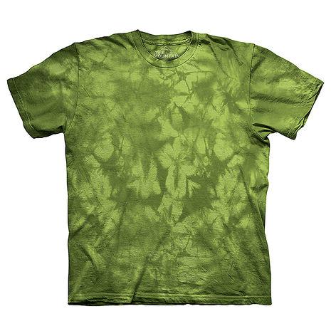 【摩達客】(預購)美國進口The Mountain純棉 花果綠 環保藝術波紋底紮染T恤