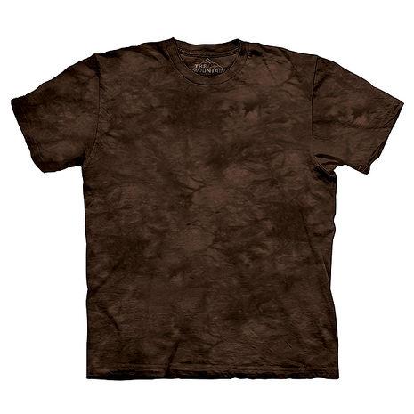 【摩達客】(預購)美國進口The Mountain純棉 深褐啡色 環保藝術波紋底紮染T恤