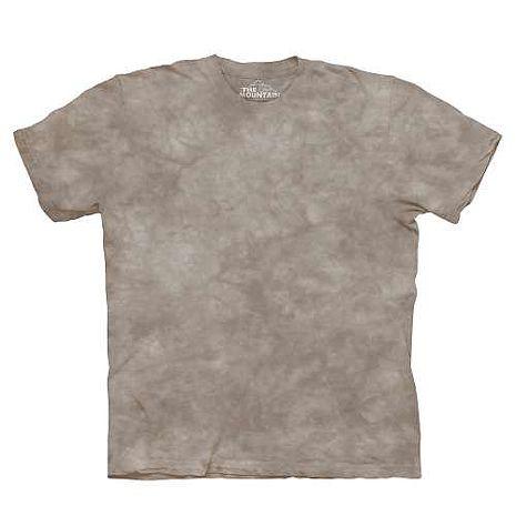 【摩達客】(預購)美國進口The Mountain純棉 陶灰色 環保藝術波紋底紮染T恤