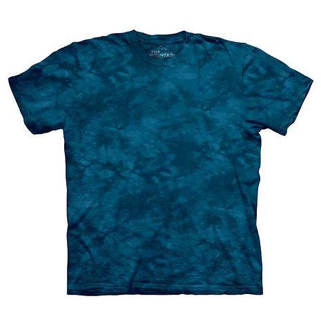 【摩達客】(預購)美國進口The Mountain純棉 星夜藍 環保藝術波紋底紮染T恤