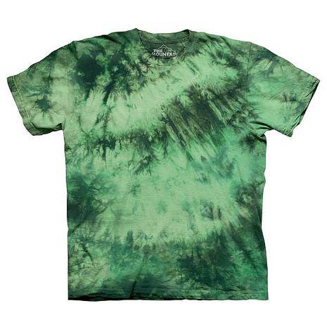 【摩達客】(預購)美國進口The Mountain純棉 奇異果綠 環保藝術波紋底紮染T恤