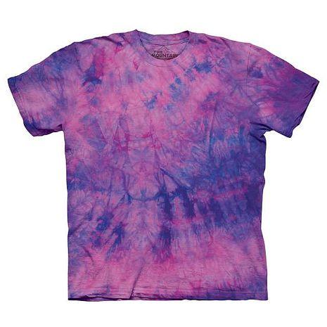 【摩達客】(預購)美國進口The Mountain純棉 粉藍紫色染 環保藝術波紋底紮染T恤
