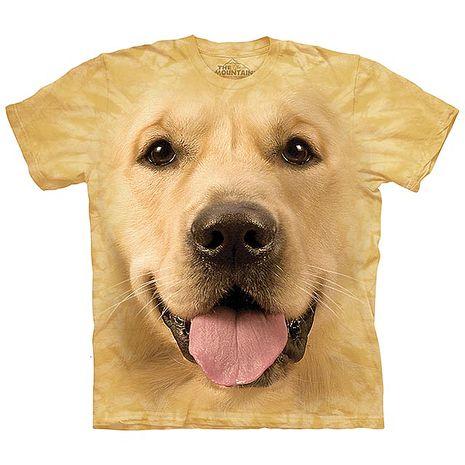 【摩達客】(預購)美國進口The Mountain 大黃金獵犬臉 純棉環保短袖T恤