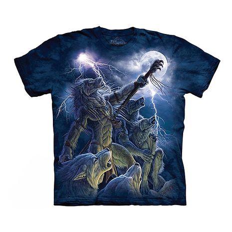 【摩達客】(預購)美國進口The Mountain 狼喚風暴 純棉環保短袖T恤-特賣成人Adult-M