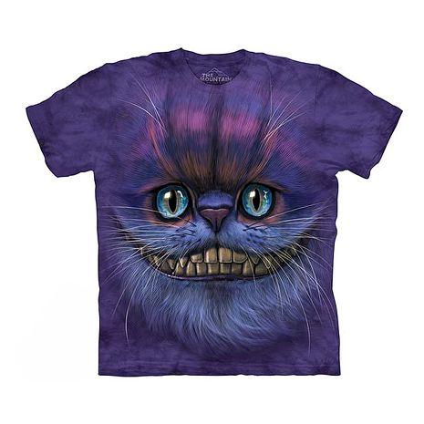 【摩達客】(預購)美國進口The Mountain 笑笑柴郡貓臉 純棉環保短袖T恤