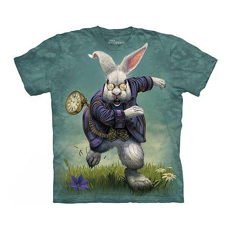 【摩達客】(預購)美國進口The Mountain 愛麗絲夢遊白兔 純棉環保短袖T恤青少年Y-S