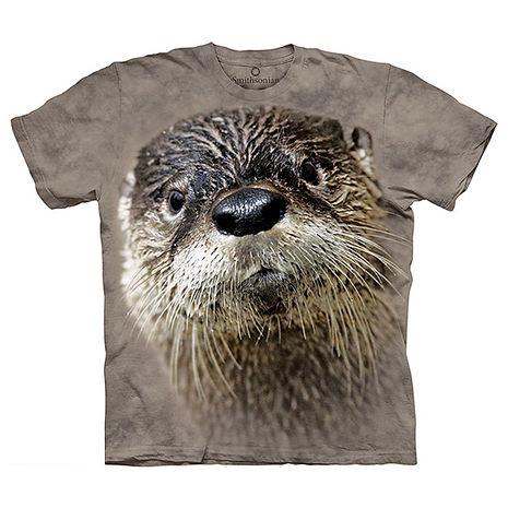 【摩達客】(預購)美國進口The Mountain Smithsonian系列 北美水獺 純棉環保短袖T恤