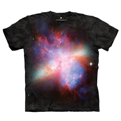 【摩達客】(預購)美國進口The Mountain Smithsonian系列 星爆星系M82 純棉環保短袖T恤