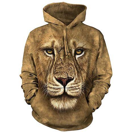 【摩達客】(預購)美國進口The Mountain 獅勇士 長袖連帽T恤成人Adult-XL