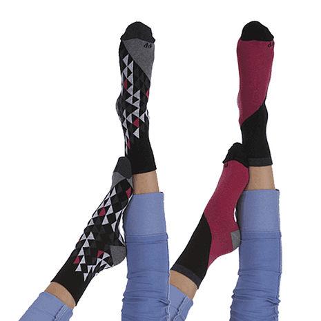 【摩達客】英國進口Pretty Polly 時尚嬉皮圖騰紋棉襪腳踝襪短襪超值組(一組兩雙不同款)