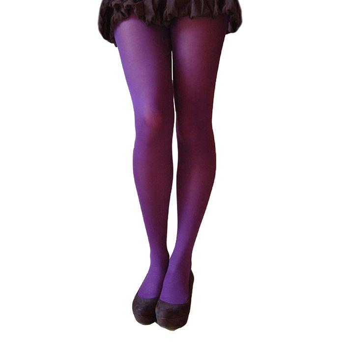 英國進口【Pretty Polly】60D丹尼彩色彈性褲襪(深紫色)