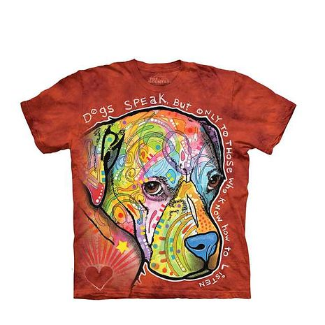 【摩達客】(預購)美國進口The Mountain 彩繪導盲犬 純棉環保短袖T恤成人Adult-2XL