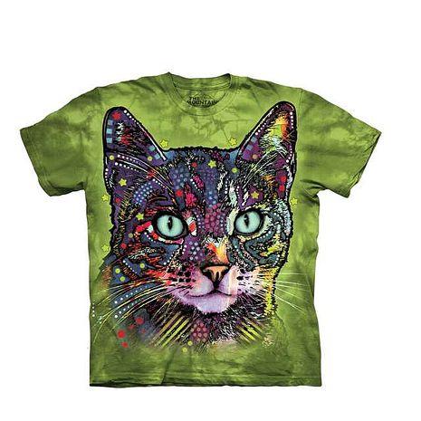 【摩達客】(預購)美國進口The Mountain彩繪小野貓 純棉環保短袖T恤-貓青少年Y-XL