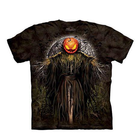 【摩達客】(預購)美國進口The Mountain 萬聖稻草人 純棉環保短袖T恤成人Adult-L