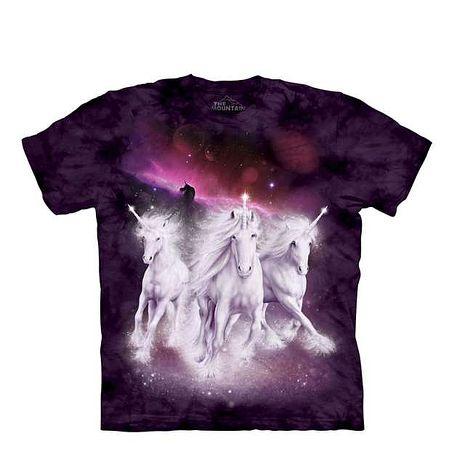 【摩達客】(預購)美國進口The Mountain 銀河獨角獸 純棉環保短袖T恤青少年Y-S