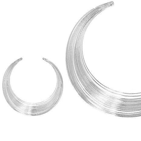 【摩達客】簡約線圈風尚銀色項鍊