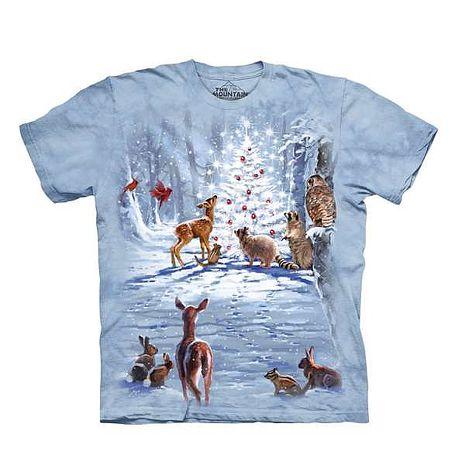 【摩達客】(預購)美國進口The Mountain 聖誕動物群 純棉環保短袖T恤成人Adult-S