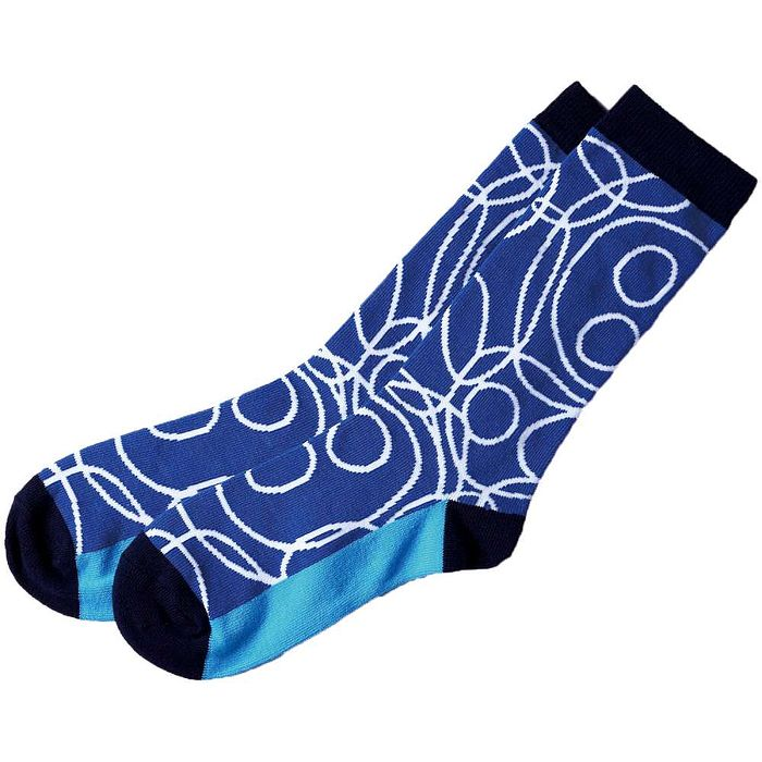【摩達客】SimplyICR愛啟兒-創作襪crx04彩繪藍藍