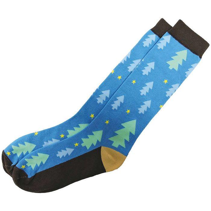 【摩達客】SimplyICR愛啟兒-創作襪crx08綠樹藍天