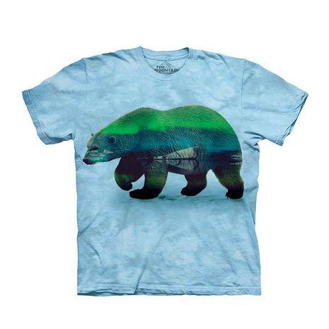 【摩達客】(預購)美國進口The Mountain 極光北極熊 純棉環保短袖T恤(10416045009a)