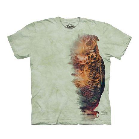 【摩達客】(預購)美國進口The Mountain 樹林貓頭鷹 純棉環保短袖T恤(10416045011a)