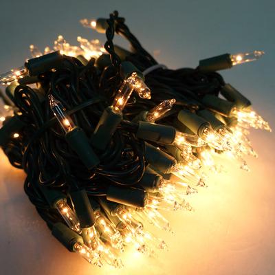 聖誕燈串-100燈清光樹燈(鎢絲燈-溫暖清光色)(可搭聖誕樹)